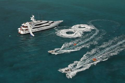 Motor yacht charter watersports