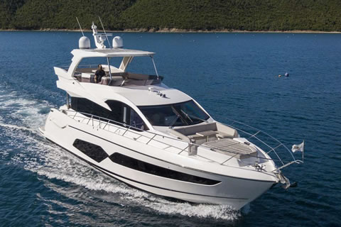 ELITE 64ft Sunseeker motor yacht charter in the Virgin Islands
